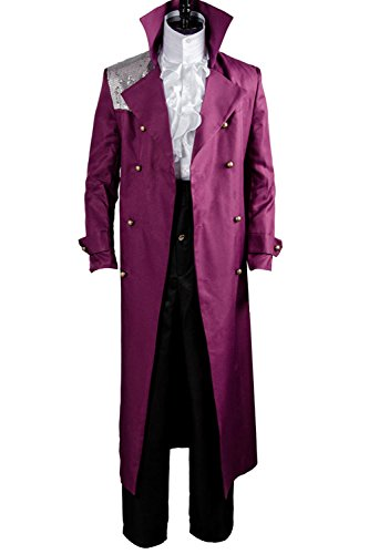 [Sidnor Purple Rain Prince Rogers Nelson Costume Shirt Movie Cosplay Outfit Suit] (Yellow Rain Jacket Costume)