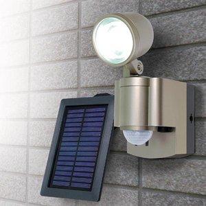 【防犯グッズ】LED×1灯ELPA 防雨センサーライト(ソーラー) ESL-301SL ds-859018 B01H6XN474
