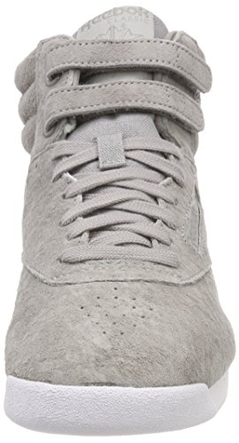 Reebok Women's F/S Hi NBK Fitness Shoes, Beige Grey (Powder Grey/White 000)