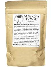 Agar Agar Powder - 4 Ounces + 1 Bonus Ounce Free, Excellent Gel Strength 900g/cm2