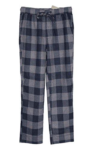 J Crew Men's - Buffalo Check Flannel Pajama Pants (Large, Navy/Gray Buffalo) from J.Crew