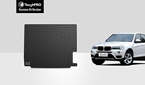 ToughPRO Cargo/Trunk Mat Compatible with BMW X3 - All Weather - Heavy Duty - (Made in USA) - Black Rubber - 2011, 2012, 2013, 2014, 2015, 2016, 2017