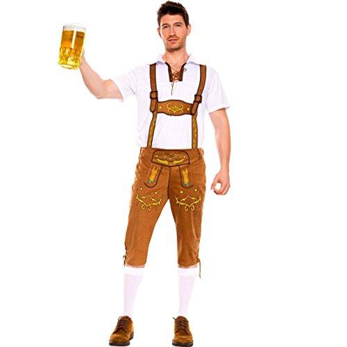 Slocyclub Oktoberfest Costume Men's Bavarian Guy Outfit