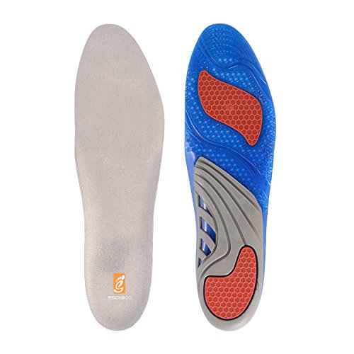 SESSOM&CO Gel Orthotic Insoles for Shock Absorbing, Heel and Knee Protection - Unisex Inserts Shoe Cushion, Relieve Foot Pain for Plantar Fasciitis