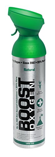 New and Larger, Boost Oxygen Natural Energy in a Can, New Large Size: 10 Liters over 200 One-Second Inhalations (Oxygen Kit)