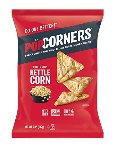 Medora Snacks Popcorners Popped Corn Chips, Kettle, 5 Ounce (Pack of 12) ()