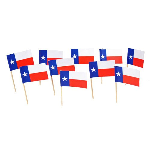 Texas | Texan Flag Toothpicks - Texas Party Supplies