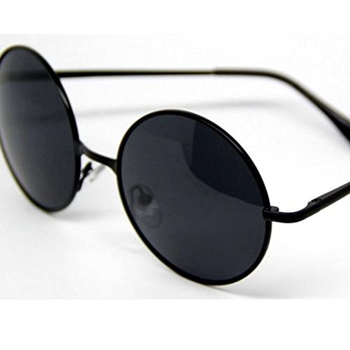 Hikote Fashion Vintage Glasses Lenses Metal Frame Round - Sunglasses Singapore Cocoon