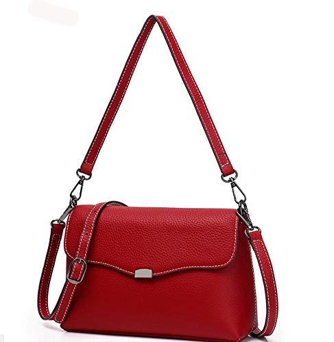 Oblique Hongge Side Bag Small Fashion Shoulder Lady Leather Lady Cowhide Cowhide Baotou Bag C Single Bag Layer Female ZqvZtr