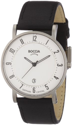Boccia B3533-03 Mens Titanium White Black Watch