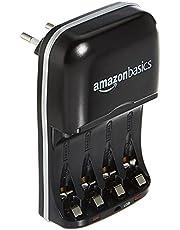 Amazon Basics Batterijlader Voor Ni-MH AA / AAA-Batterijen En USB-Apparaten