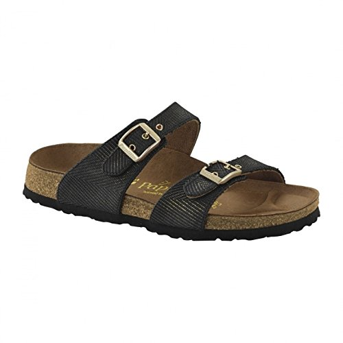 Birkenstock Sydney 1001557 - Metallic Knit Black (Synthetic) Womens Sandals 43 EU
