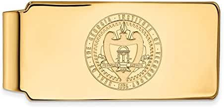 14k Yellow Gold LogoArt Official Licensed Collegiate Georgia Institute of Technology (GT) Money Clip Crest