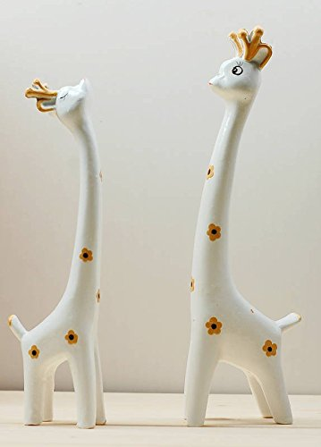 Wood Couple Deer / Lover Deer Wood Home Decoration Ornaments Wood Deer Wood