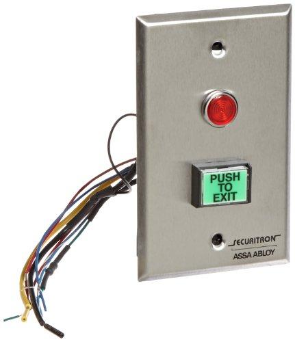 Securitron Push Button (Securitron Momentary Rectangle Push Button, DPST, Illuminated)