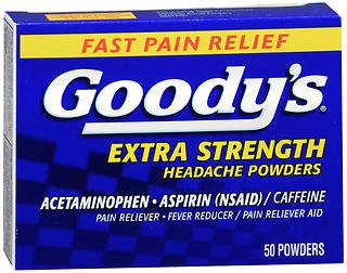 Goody's Headache Powders Pain Reliever Extra Strength - 50 ct, Pack of 5