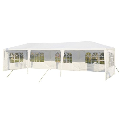 Tangkula 10'x30′ Outdoor Party BBQ Tent Outdoor Canopy White