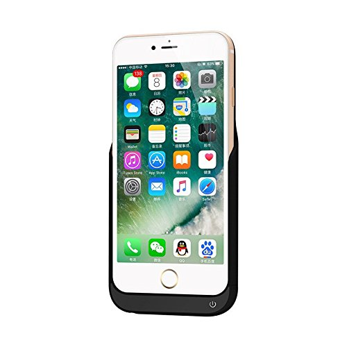 4000mah External Battery Case iPhone 7 Plus (Black) - 8