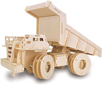 Quay Carro de Descarga artesanía en madera Kit de construcción: Amazon.es: Juguetes y juegos