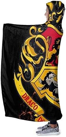 Krr H-Arry Potter Couverture à capuche 152 x 127 cm Poids léger, durable, confortable et chaud Universel