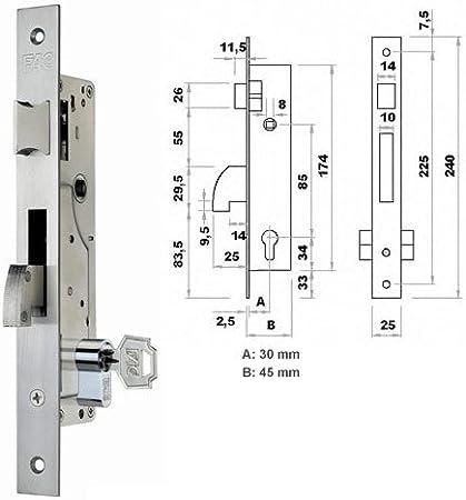 Fac M107078 - Cerradura metal picaporte gancho 7003 30-05
