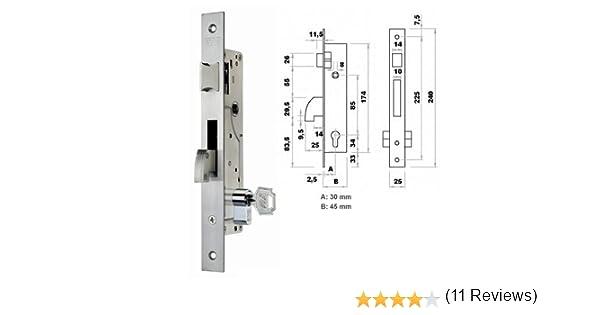 Fac M107078 - Cerradura metal picaporte gancho 7003 30-05: Amazon ...