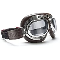 Motorcycle Vintage Goggles - Aviator Style - Chrome...