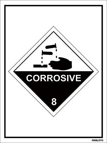 Self Adhesive Labels - Corrosive (Set of 50 pcs)