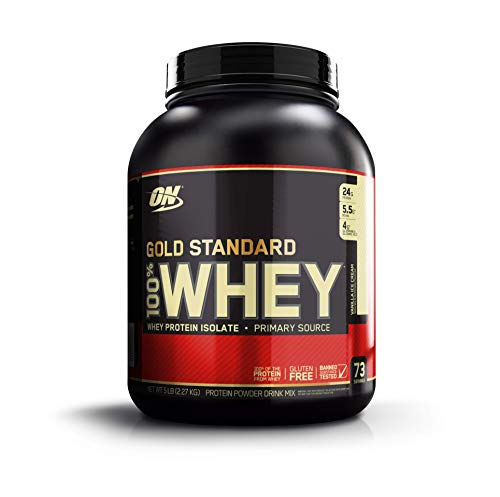 Optimum Nutrition Gold Standard 100% Whey Protein Powder, Vanilla Ice Cream, 80...