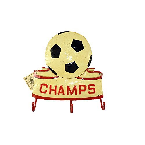 Soccer Champs Wall Rack with 3 Hooks by Clarke