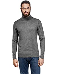 Men's Sweater with ribbed turtle-neck, slim-fit