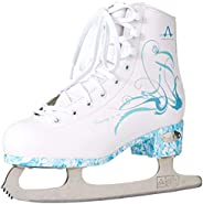 American Athletic Shoe Women's Sumilon Lined Figure Skates with Turquoise Out