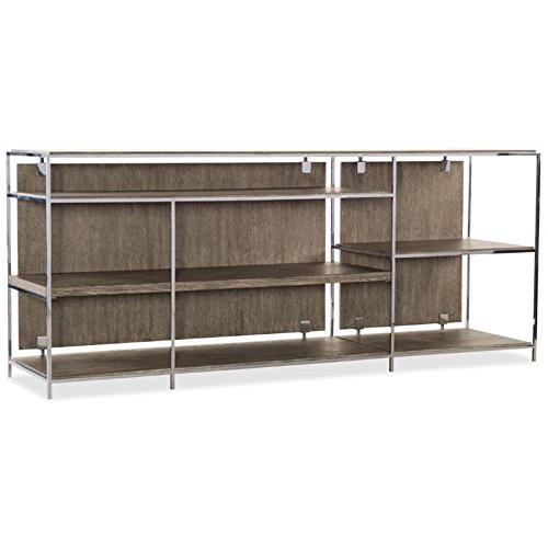 Hooker Furniture Storia Low Bookcase in Medium Wood Lateral File Console