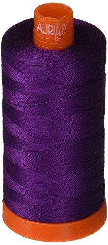 Aurifil A1050-2545 Solid 50wt 1422yds Medium Purple Mako Cotton Thread