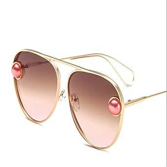 MNGF&GC Gafas de sol de metal con perlas Gafas de sol para ...