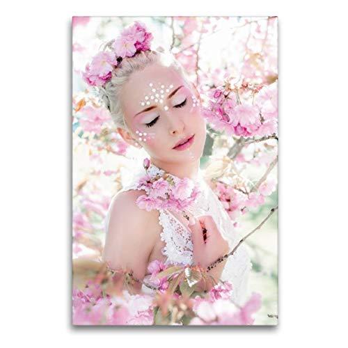 CALVENDO Toile en Textile de qualité supérieure 60 cm x 90 cm de Haut, cerisiers