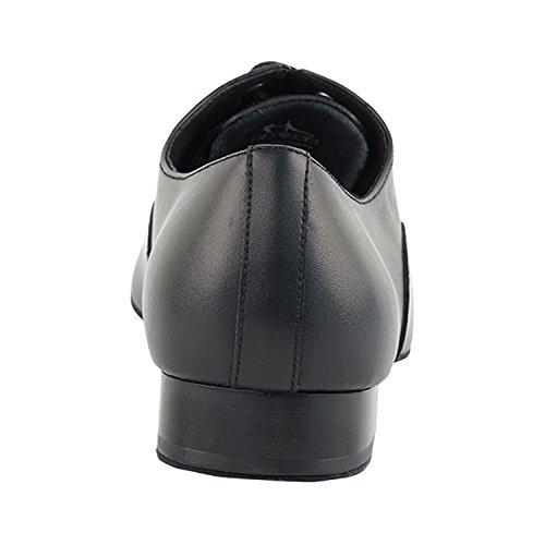 """50 Shades Of Men Standard 1 """"Heel Dance Kleid Schuhe Sammlung (Breite Breite verfügbar): Komfort Ballsaal, Standard, glatt, Latein, Salsa, Kunst von Party Party S305 Schwarzes Leder"""