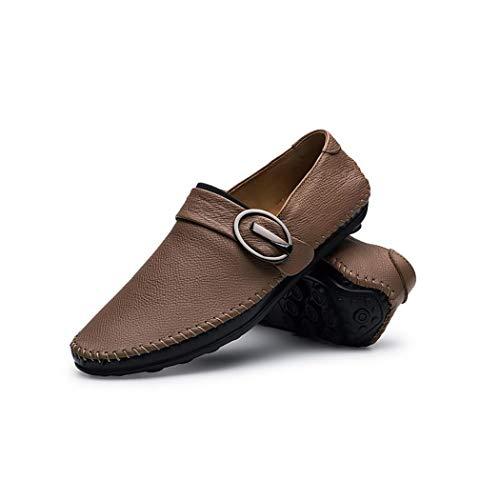 mocassino scarpe guida mocassino casual uomo mocassino pelle on Zxcvb slip da in scamosciata designer Brown nuovo vqxA0