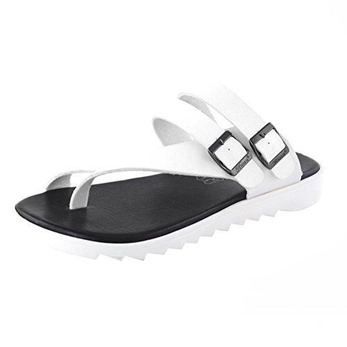 Infradito Uomo Pantofole Ciabatte Flip Casa Eleganti a Sandali ZhuiKun Flop Bianco Rqca4HY4y