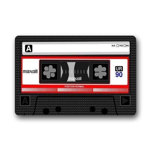 ZOZGETU Doormat Retro Fashion Funny Decoractive Cassette Tape Custom Indoor Rubber Mats Entrance Door Mat Welcome Rug Non-Slip Floor Mat for Home Kitchen Doormats Rug 23.6x15.7 inch / 40 X 60cm Inch for $<!--$10.23-->
