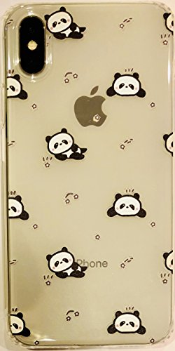 Soft Gel Clear Skin Case Fits Apple iPhone X/10/Xs Embossed Baby Panda