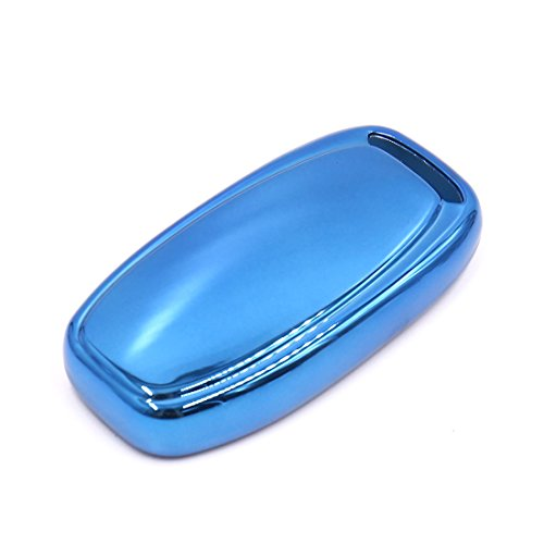 uxcell Blue Remote Key Case Holder Shell Cover Fit For Audi A6L A4L A5 A7 A8L Q5 S5 by uxcell