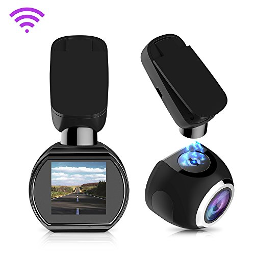 Siv Wifi Car Dash Cam 1080P with Sony Image Sensor 170 Degree Wide Angle Night Vision Loop Recording