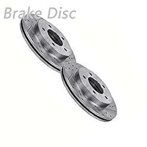 Amazon Com Vioji 2pcs Front Left Right Drilled Slotted