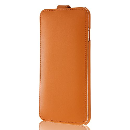 Flap Type Leather Style Jacket for iPhone 6 Plus (Brown)