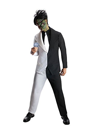 Rubie's Men's Dc Super Villains Adult Two-Face, Black/White, X-Large -