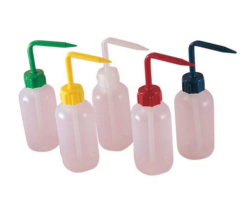 Thomas Low Density Polyethylene Economical Narrow Mouth Wash Bottle with Polypropylene Cap, 250mL Capacity (Pack of 5)