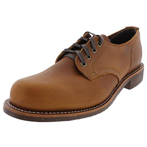 Chippewa Mens Leather Lace Up Oxfords Tan 9 Medium (D)