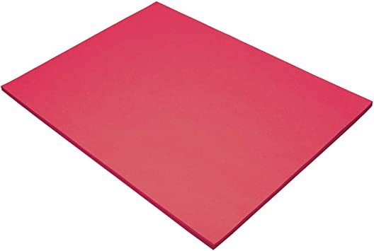 Tru-Ray Sulphite Construction Paper 50 Sheets 18 x 24 Inches Pink