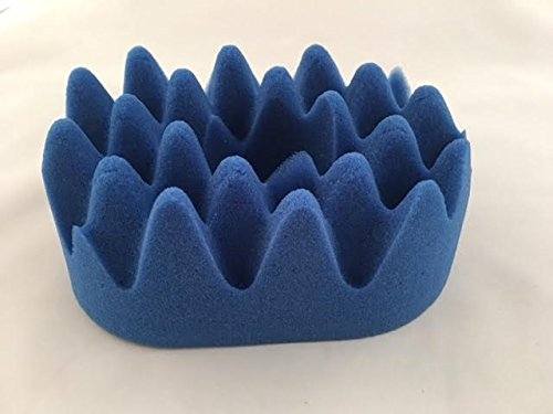 Ear Infection Pillow, Premium made in USA High-Density, Convoluted Foam, Deep Blue Color.
